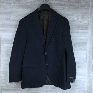 Louis Raphael Navy Slim Fit 2 Button Jacket Blazer